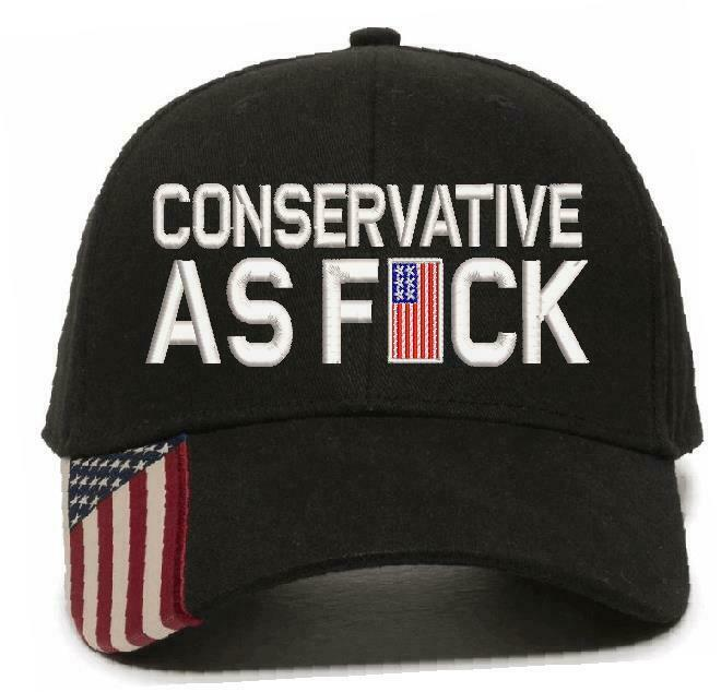 Conservative as Fu*k Embroidered Hat Trump Hat Various Hat Choices Free Shipping - Powercall Sirens LLC