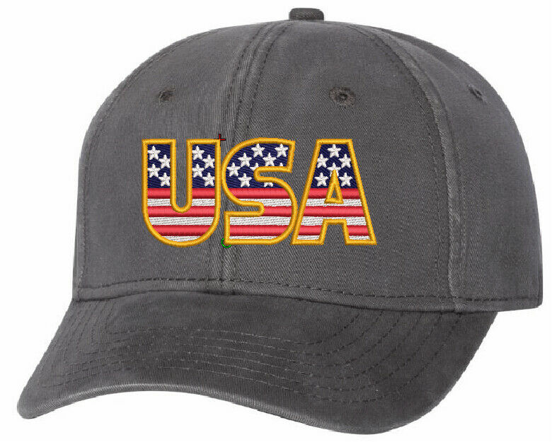USA Embroidered Hat - Sportsman AH-30 Adjustable Hat - Free Shipping, USA - Powercall Sirens LLC