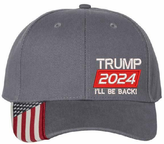 Trump 2024 I'll Be Back President United States USA300 Embroidered Trump Hat - Powercall Sirens LLC