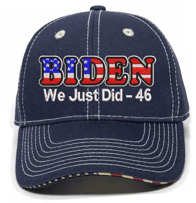"We Just Did 46 USA BIDEN Embroidered Hat Cap Biden President Election 2020 ""46"" - Powercall Sirens LLC"