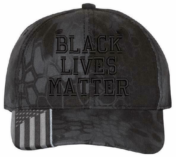 Black Lives Matter Embroidered Hat - AH-30 Adjustable or USA-300 Flag Hat - Powercall Sirens LLC