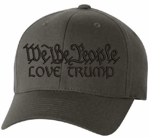 "We The People ""LOVE TRUMP"" Flex Fit 6277 Embroidered Low Profile Ball Cap - Powercall Sirens LLC"