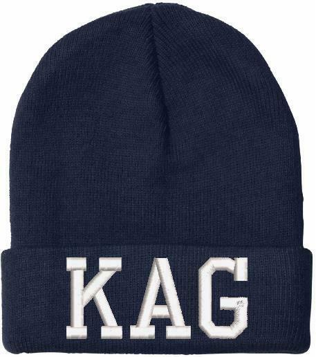 Donald Trump KAG BLACK ON BLACK Embroidered Winter Hat KEEP AMERICA GREAT - Powercall Sirens LLC