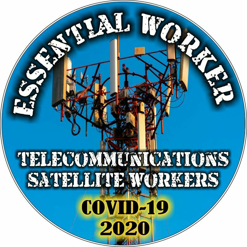 Essential Worker Sticker - Telecommunications/Sat Window Decal - Various Sizes - Powercall Sirens LLC