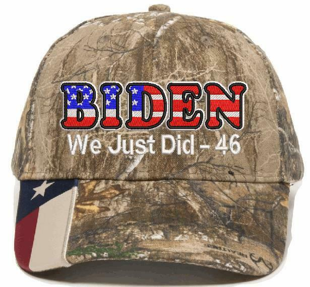 We Just Did 46 USA BIDEN Embroidered Hat CWF305 Mossy/Realtree Biden President - Powercall Sirens LLC