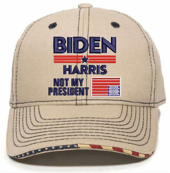 Biden Harris Not My President Upside Down Flag Embroidered USA300/Typhoon Option - Powercall Sirens LLC