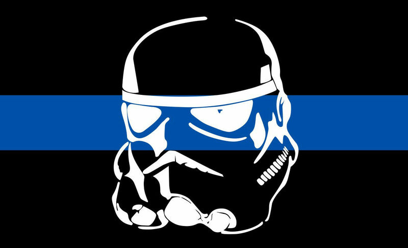 Thin Blue Line Stormtrooper Reflective Decal - Powercall Sirens LLC