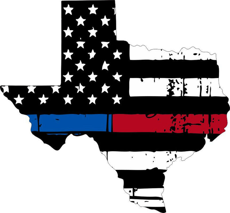 Texas Tattered Red/Blue Flag - Various Sizes - Powercall Sirens LLC
