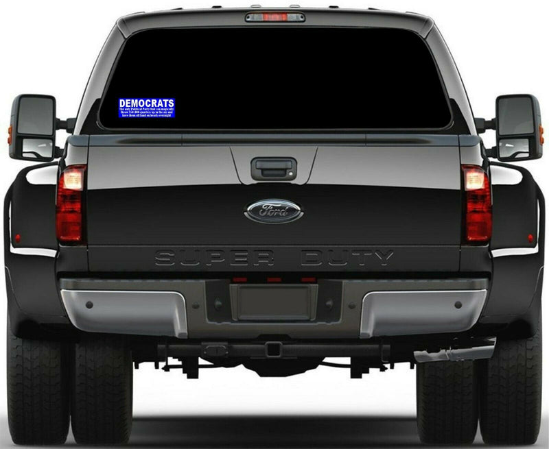 "Democrats Bumper Sticker, Voter Fraud Magically land on heads Sticker 8.7"" x 3"" - Powercall Sirens LLC"