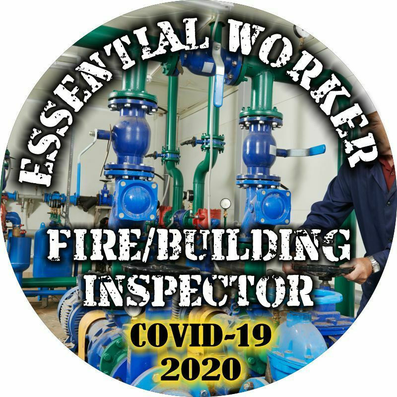 Essential Worker Sticker - Fire/Building Inspector Window Decal - Various Sizes - Powercall Sirens LLC