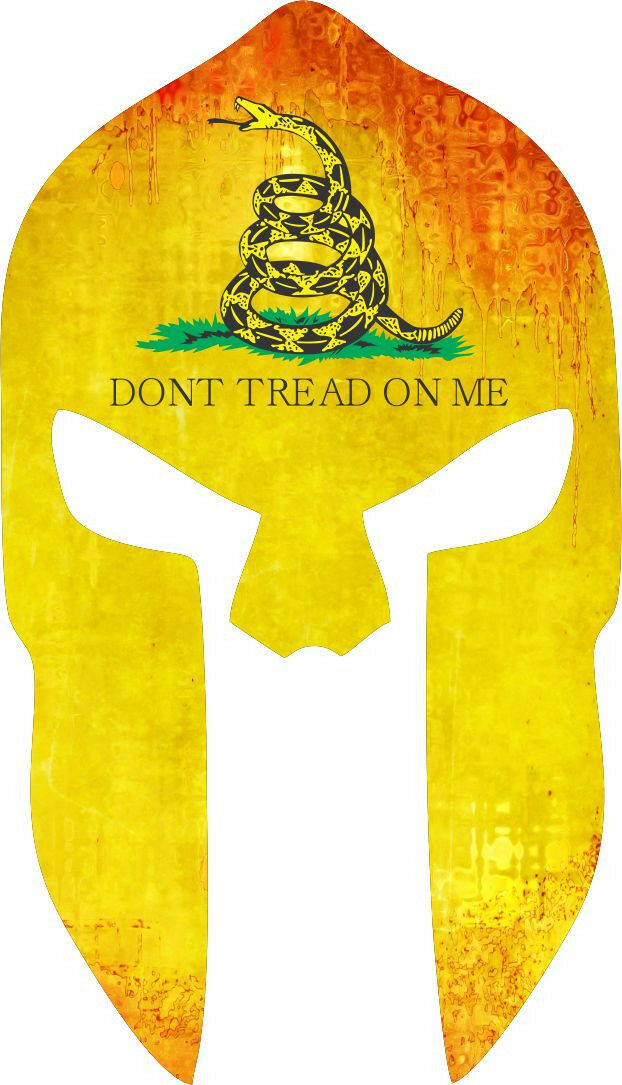 Don't Tread on Me SPARTAN Punisher Window Decal - Various Sizes Free Shipping - Powercall Sirens LLC