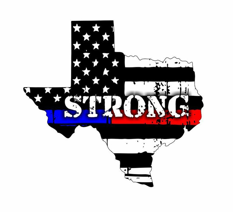 Texas Houston Strong Window Sticker Decal - Various Sizes - Powercall Sirens LLC