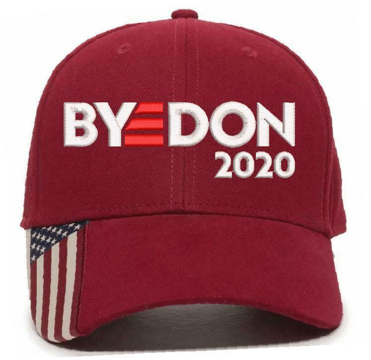 Byedon 2020 Hat Joe Biden Custom Embroidered USA-300 Flag Brim- Various Colors - Powercall Sirens LLC