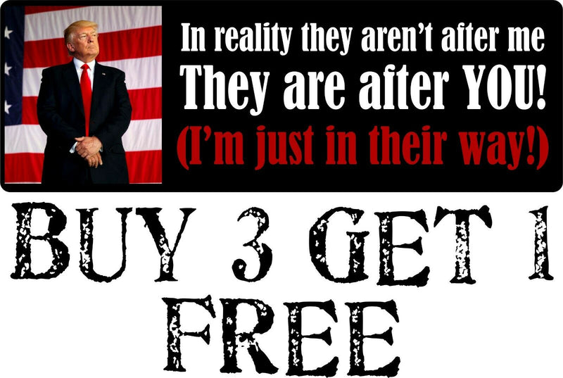 "Trump In Reality In Their Way Bumper Sticker 8.8"" x 3"" Sticker Buy 3 get 1 FREE - Powercall Sirens LLC"