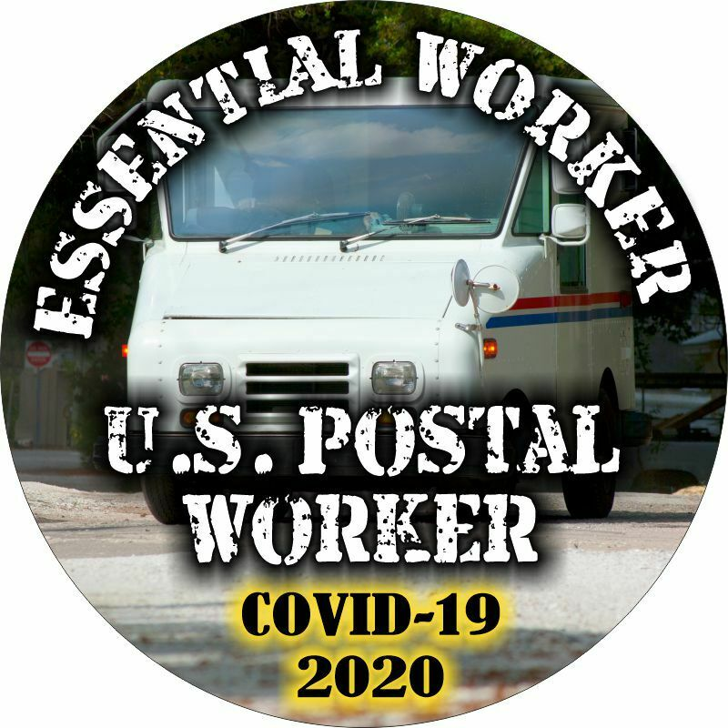 Essential Worker Sticker - Postal Service Worker Window Decal - Various Sizes - Powercall Sirens LLC