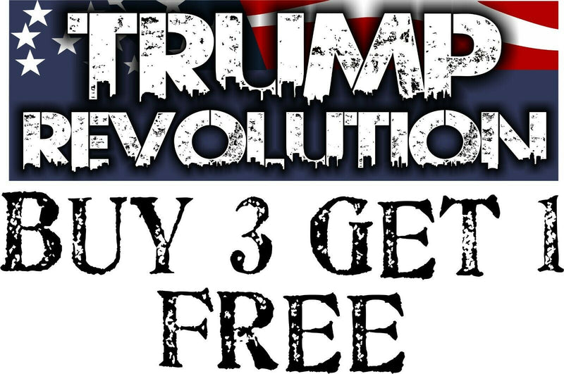"Trump Revolution Bumper Sticker 8.7"" x 3"" Trump Pence Decal REVOLUTION - Powercall Sirens LLC"