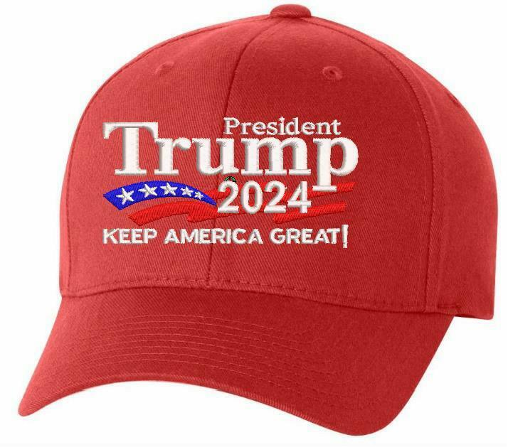 Trump 2024 - President Donald Trump Make America Great Again Hat FLEX FIT HAT - Powercall Sirens LLC
