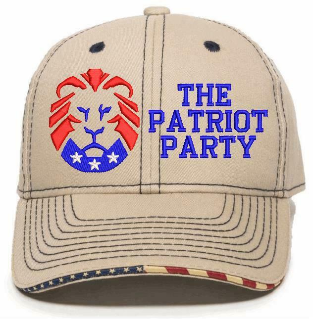 The Patriot Party LION Hat - Embroidered USA-300/Mossy Adjustable Hat TRUMP 2024 - Powercall Sirens LLC