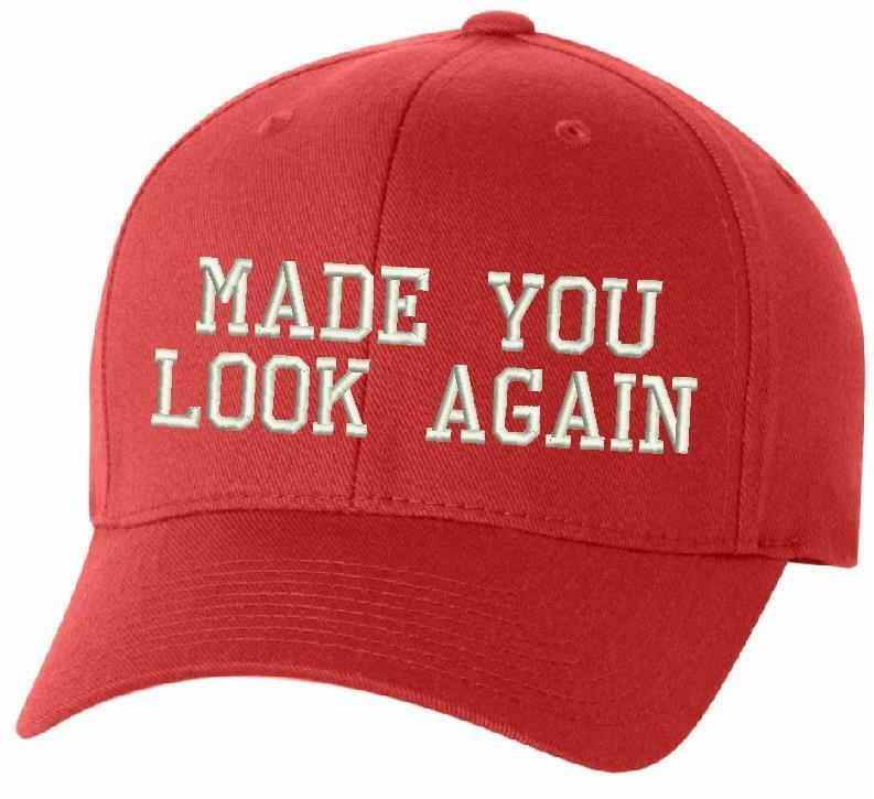 MADE YOU LOOK AGAIN MAGA Embroidered Adjustable/Flex/WH Donald Trump MAGA Hat - Powercall Sirens LLC