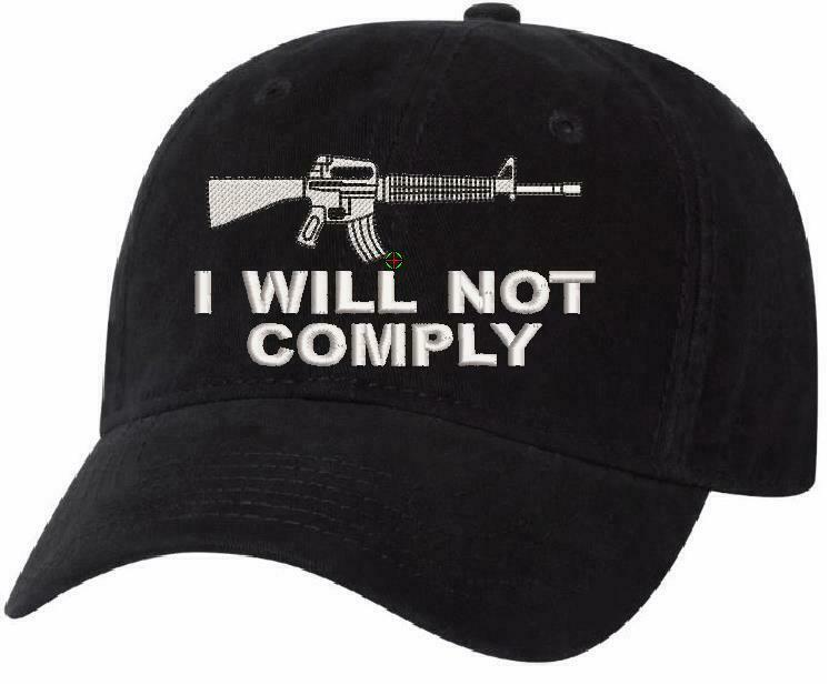 I will not comply Hat Embroidered AH-35 UNSTRUCTURED HAT - 2nd amenemdment hat - Powercall Sirens LLC