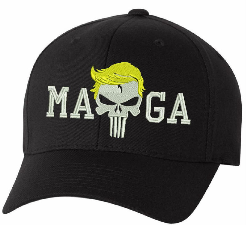 Donal Trump Hat Punisher MAGA Embroidered Flex Fit or Adjustable Hat MAGA Trump - Powercall Sirens LLC