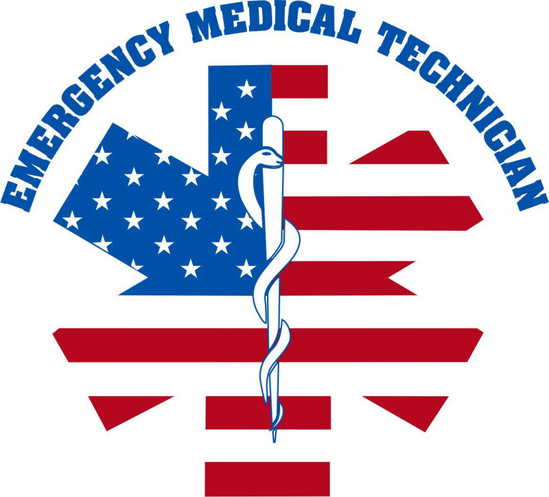 USA Emergency Medical Tech EMS Star Decal - Powercall Sirens LLC