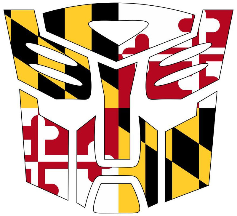 Maryland Design Autobot Style Decal - Powercall Sirens LLC
