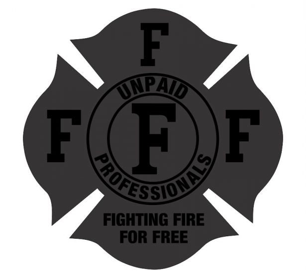 Fighting Fire for Free Blacklite Reflective Decal - Powercall Sirens LLC