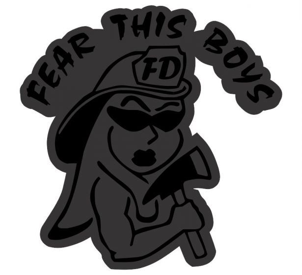 Fear this boys Blacklite Reflective Decal - Powercall Sirens LLC