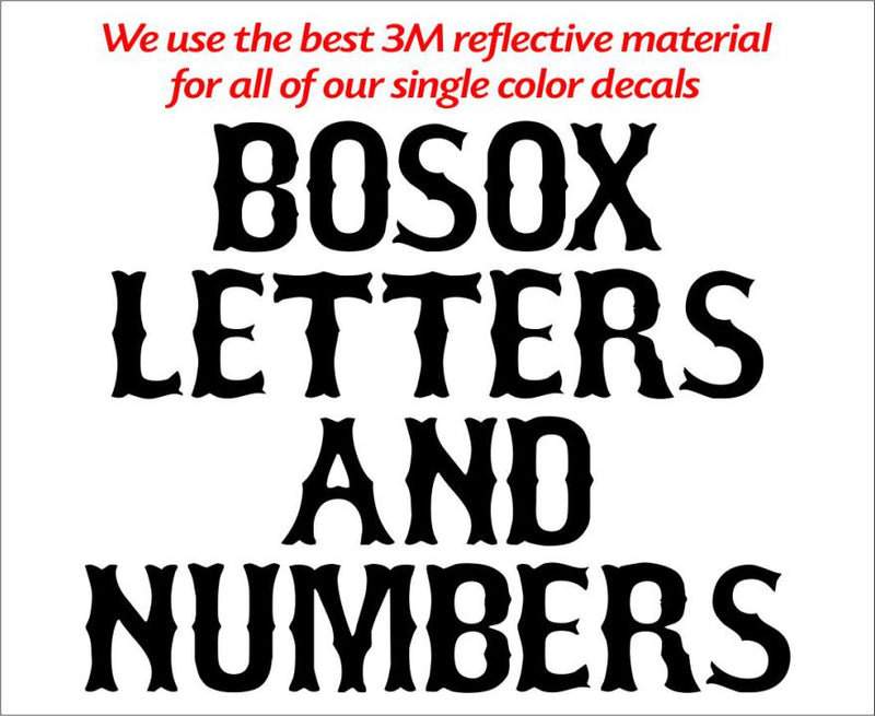 Boxcar Single Color Font Letters and Numbers - Powercall Sirens LLC
