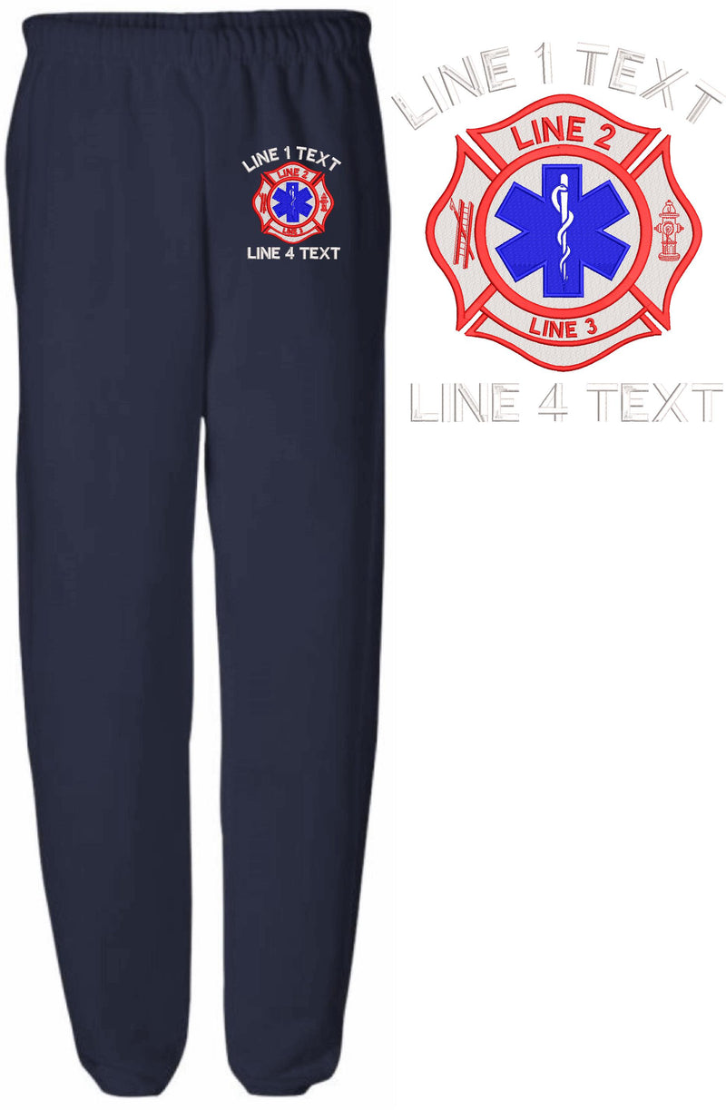 Maltese EMS2 Custom Embroidered Sweatpants - Powercall Sirens LLC