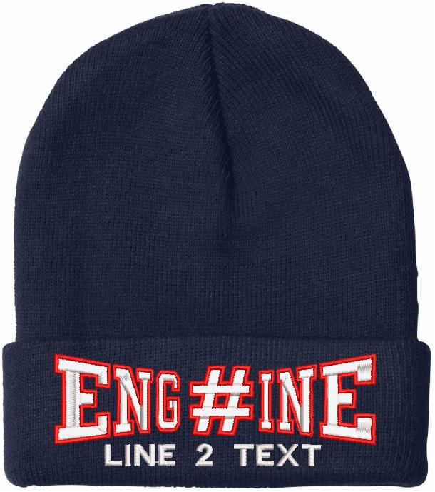 Engine 38 Style Embroidered Winter Hat - Powercall Sirens LLC