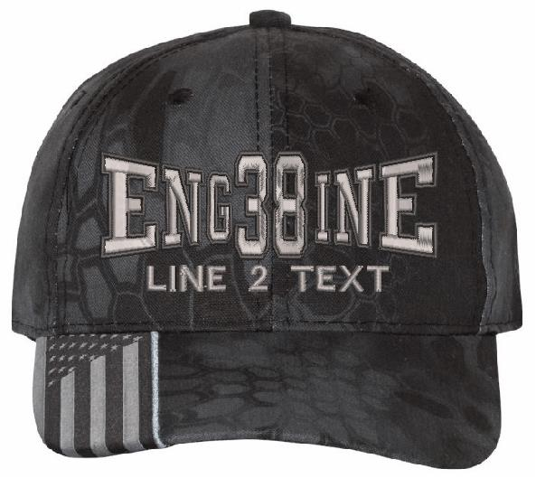 Engine 38 Style Kryptek Embroidered Hat - Powercall Sirens LLC