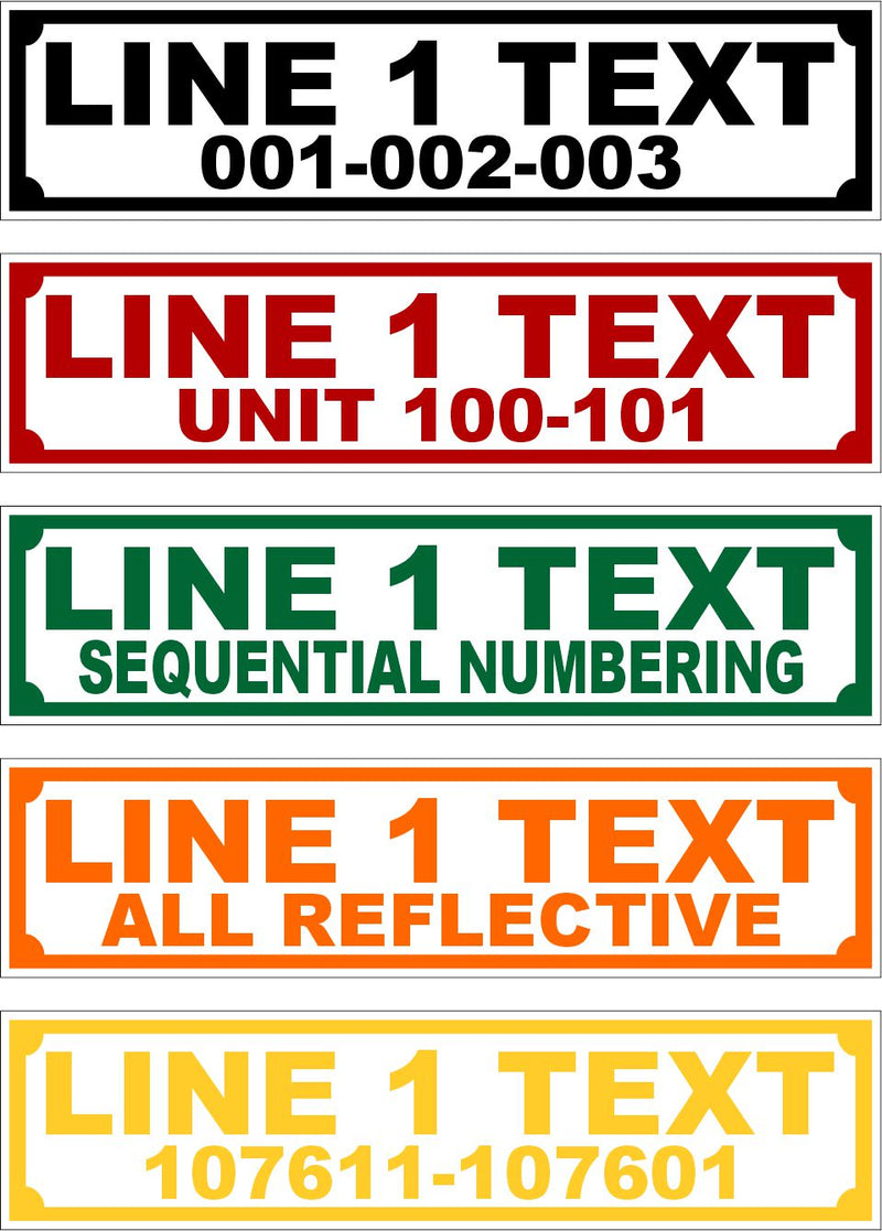 "Sequential Larger Equipment Labels 3"" x 0.75"" - Powercall Sirens LLC"