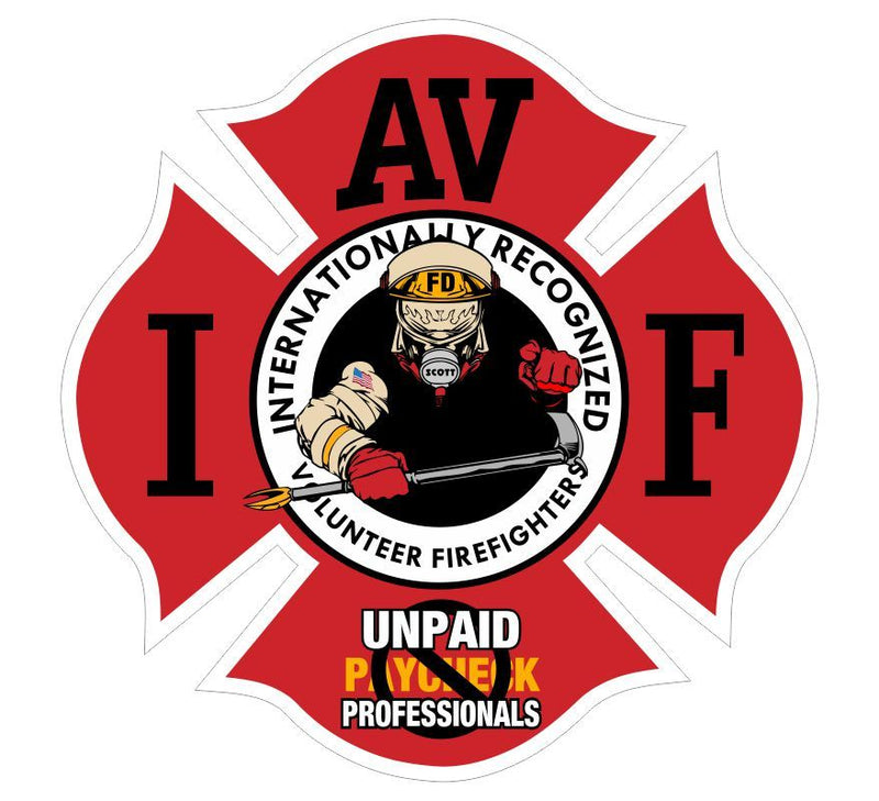 Fighting Fire For Free Pointing Decal - Powercall Sirens LLC