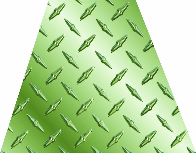 Green Diamond Plate Helmet Trapezoid - Powercall Sirens LLC