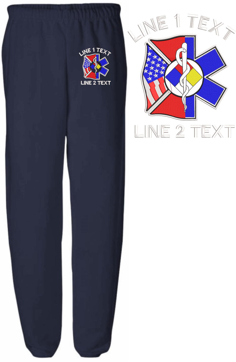 Hazmat Maltese EMS Embroidered Sweatpants - Powercall Sirens LLC