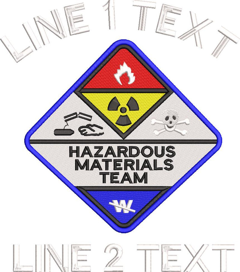 Hazmat Team Diamond Embroidered 5.11 Polo Shirt - Powercall Sirens LLC