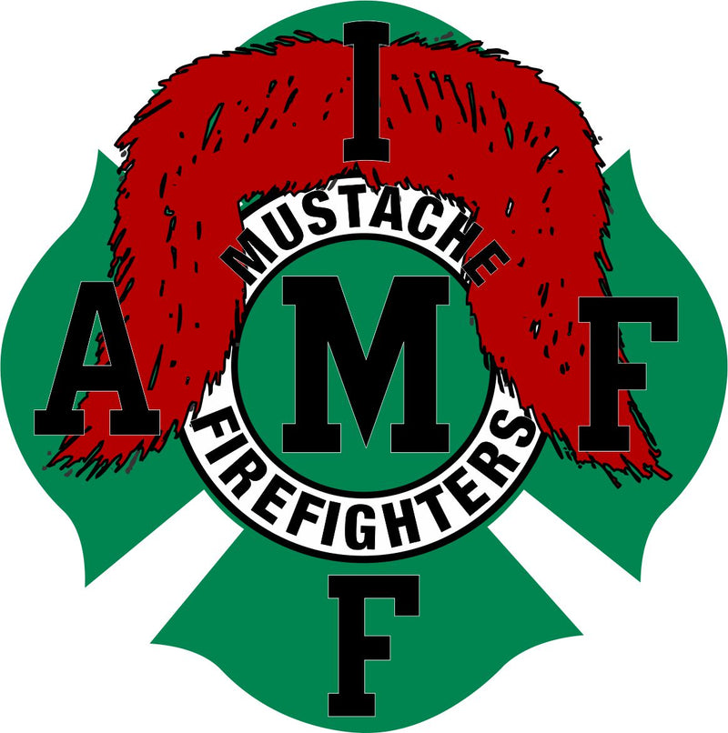 Mustache Firefighters Maltese Decal - Powercall Sirens LLC