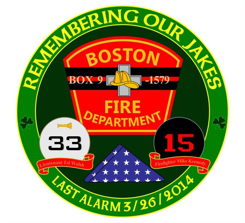 Remember our Jakes Boston Memorial Decal - Powercall Sirens LLC