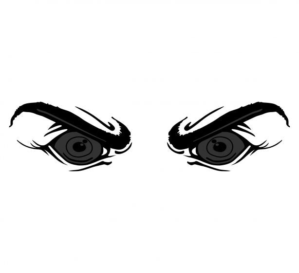 Super eyes Version 1 Blacklite Reflective Decal - Powercall Sirens LLC