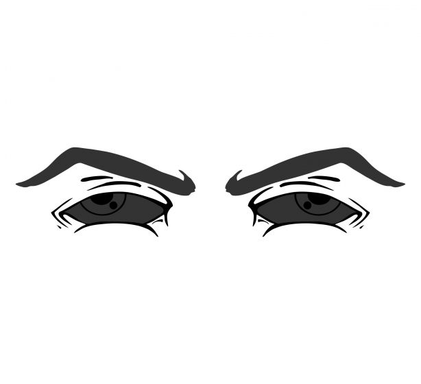 Super eyes Version 6 Blacklite Reflective Decal - Powercall Sirens LLC