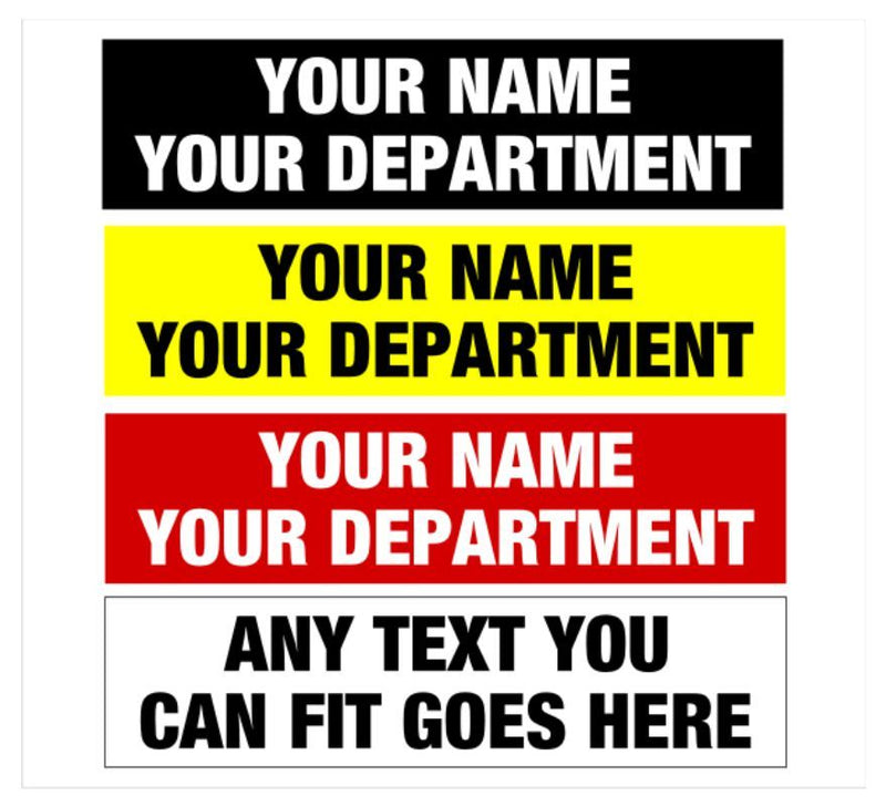 "Solid Back Equipment Labels in 1/2"" x 2"" Size - Powercall Sirens LLC"