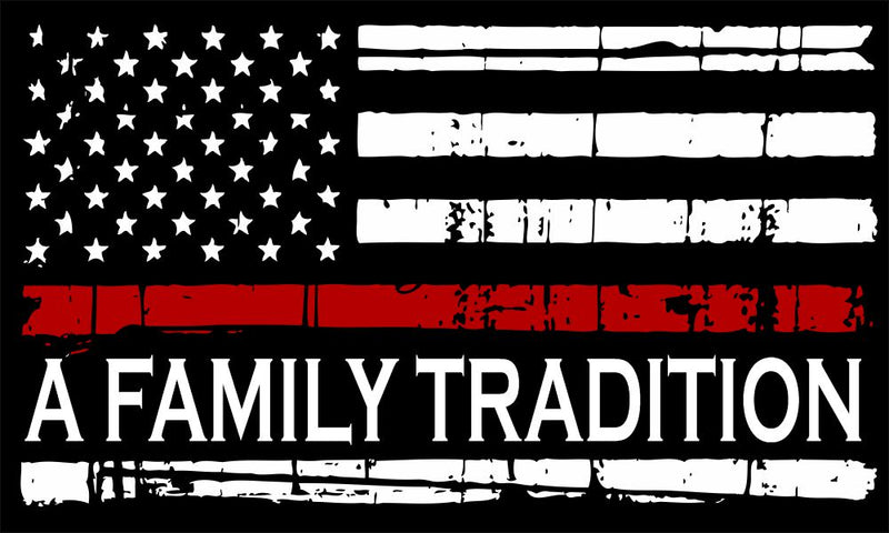 Thin Red Line Family Tradition Decal - Powercall Sirens LLC