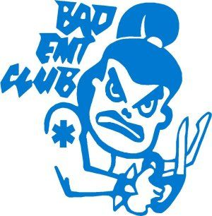 Bad EMT Club, Female Decal - Powercall Sirens LLC