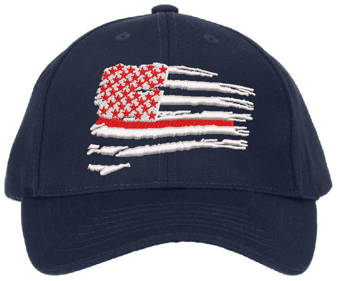 USA Flag with Axe Flex Fit Embroidered Hat White/Red Style