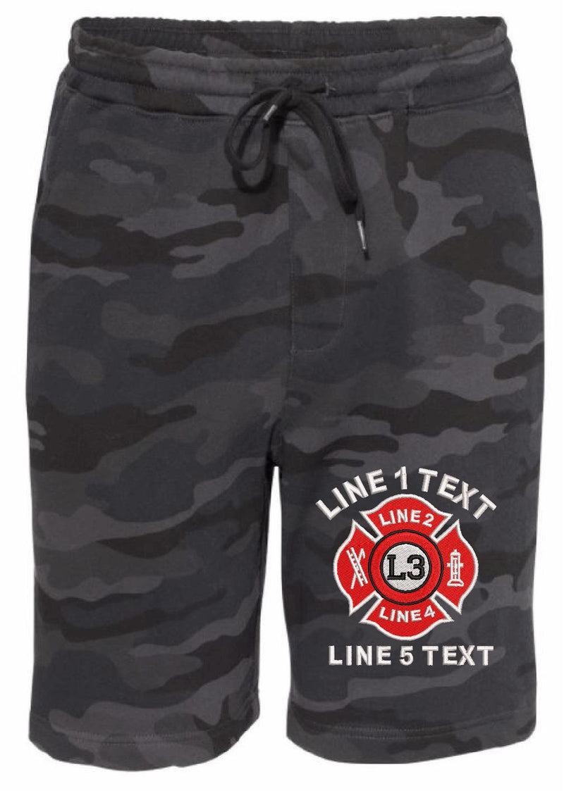 IAF Style Maltese Cross Embroidered Shorts - Powercall Sirens LLC