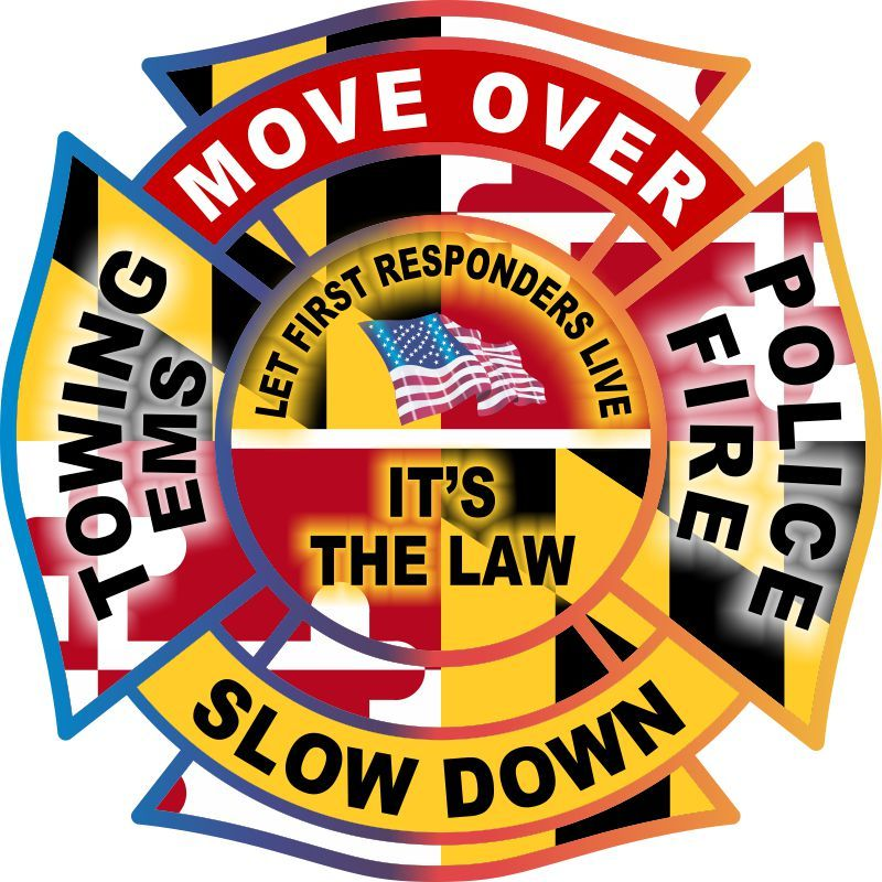 Maryland Move Over Slow Down Decal - Powercall Sirens LLC