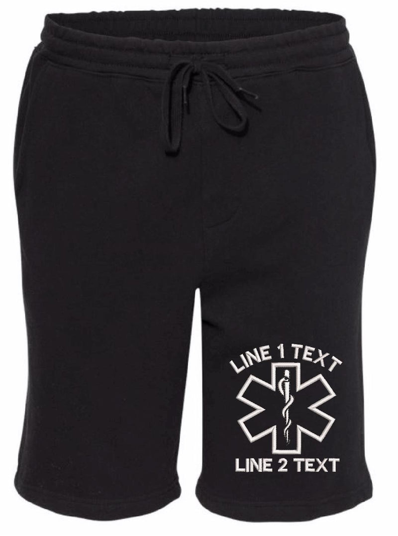Outline EMS Star Custom Embroidered Shorts - Powercall Sirens LLC