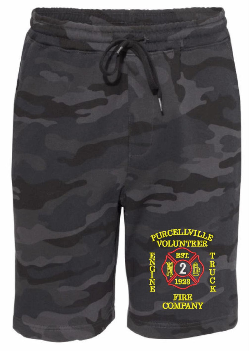 Purcellville Vol. Fire Embroidered Fleece Shorts - Powercall Sirens LLC